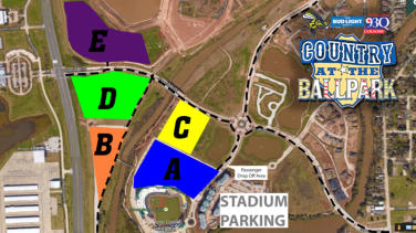 Stadium Parking Map